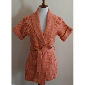 Lilly Pulitzer Orange Wool Cashmere Cardigan